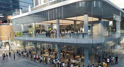 Long queues for Huawei's new handsets reflect company's strength, potential