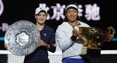 Osaka returns to top three after seeing off Barty in Beijing
