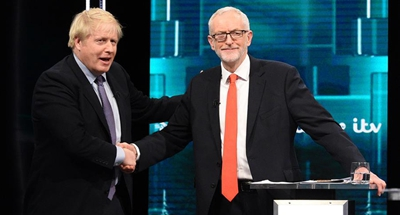 UK's two leaders go head-to-head in televised election battle debate