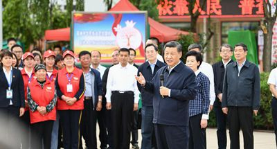 Xi inspects northwest China's Ningxia