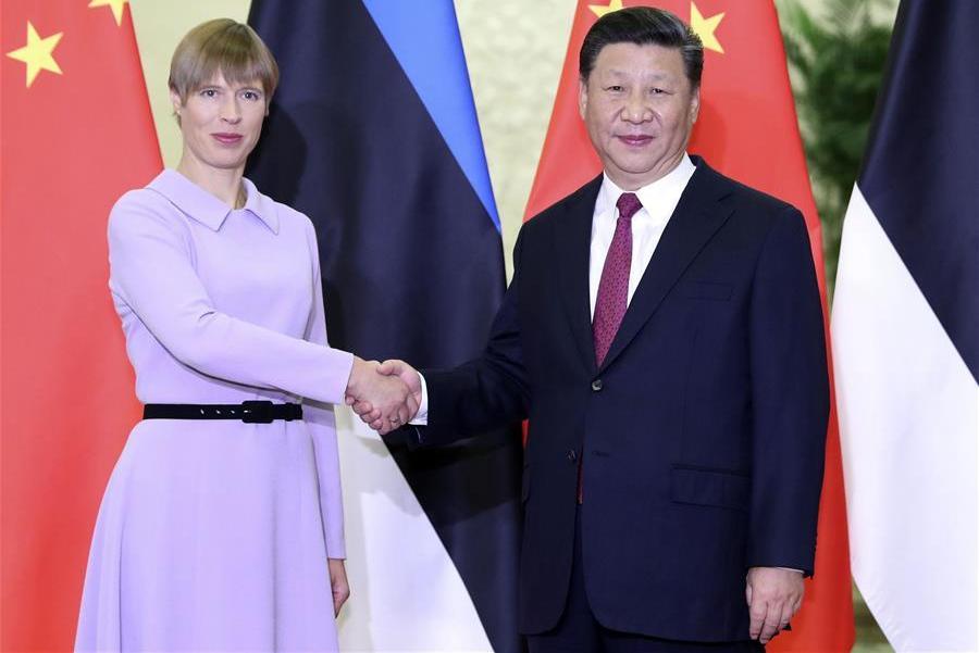 President Xi meets Estonian counterpart