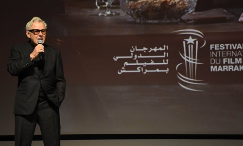 Harvey Keitel attends the 18th Marrakech International Film Festival in Marrakech, Morocco on Monday. Photo: VCG