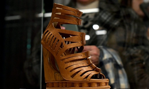 Sandal on display at the Fashion and Costume Museum in Palazzo Pitti in Florence Photo: AFP