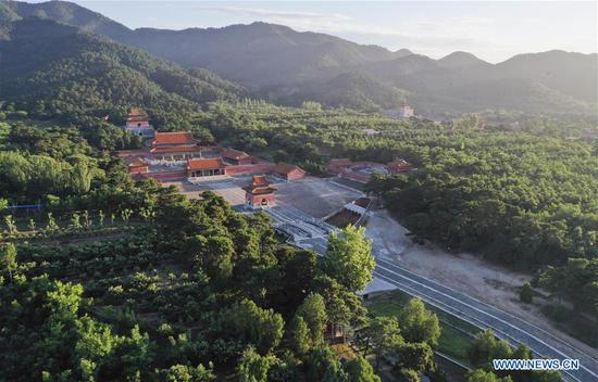 Photo taken on June 30, 2019 shows the morning view of the eastern royal tombs of the Qing Dynasty (1644-1911) in Zunhua City, north China's Hebei Province. (Xinhua/Liu Mancang)