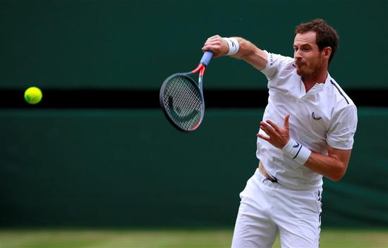 Britain's Andy Murray is stepping up his singles return.