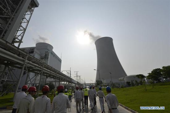The photo taken on Aug. 6, 2019 shows the Sahiwal Coal Power plant in Sahiwal, Punjab Province, Pakistan. Power plants under the China-Pakistan Economic Corridor (CPEC) have improved livelihood of Pakistanis by helping the government overcome severe electricity shortage. (Xinhua/Ahmad Kamal)
