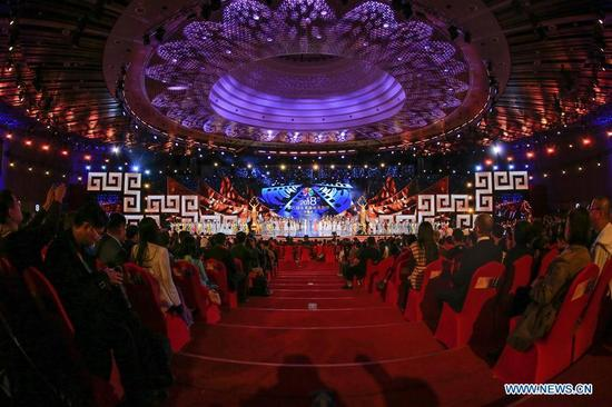 The opening ceremony of the 8th Beijing International Film Festival (BJIFF) is held in Beijing, capital of China, April 15, 2018. (Xinhua/Lin Bowei)