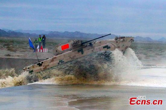 A Chinese infantry fighting vehicle during the