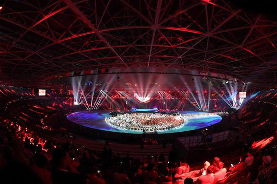 The closing ceremony of the 18th Asian Games is held at Gelora Bung Karno (GBK) Main Stadium in Jakarta, Indonesia, Sept. 2, 2018.(Xinhua/Huang Zongzhi)