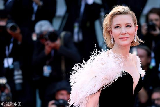 Cate Blanchett walks the red carpet ahead of the A Star Is Born screening during the 75th Venice Film Festival at Sala Grande on August 31, 2018 in Venice, Italy. [Photo/VCG]