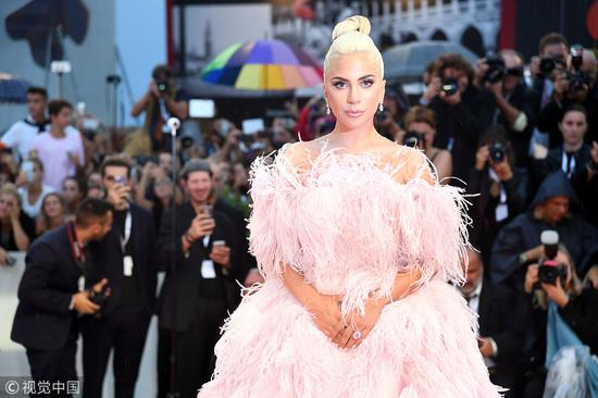 Lady Gaga walks the red carpet ahead of the A Star Is Born screening during the 75th Venice Film Festival, in Venice, Italy, on August 31, 2018. [Photo/VCG]