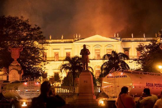 A fire on Sunday ripped through Rio de Janeiro's National Museum.