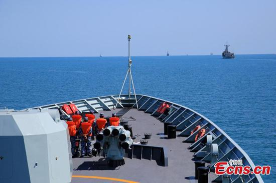 Exercise KAKADU 2018 has commenced at sea off the coast of Darwin, Australia. The joint exercise was hosted by the Royal Australian Navy and supported by the Royal Australian Air Force. This year's event involves the participation of 27 countries, including China, Bangladesh, Canada, Chile, France, India, Indonesia, Japan, New Zealand, Philippines, Republic of Korea. (Photo/China News Service)
