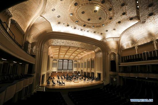 Photo taken on Aug. 20, 2018 shows Severance Hall, the home of the Cleveland Orchestra, in Cleveland, Ohio, the United States. Founded in 1918, the Cleveland Orchestra has grown into one of the world's finest, as music critics in mainstream media, such as the New York Times and the Wall Street Journal, have declared. After concluding the 2017-18 centennial season of concerts, the Orchestra will embark on a tour to China in 2019 marking the beginning of its Second Century, 21 years after its last visit to the Asian country. (Xinhua/Wang Ying)