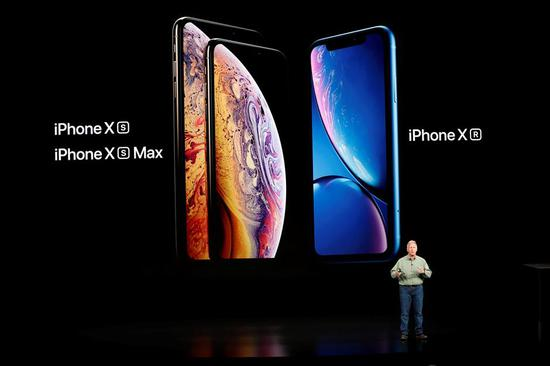 Philip W. Schiller, Senior Vice President, Worldwide Marketing of Apple, speaks about the new Apple iPhone XR at an Apple Inc product launch event at the Steve Jobs Theater in Cupertino, California, US, September 12, 2018.