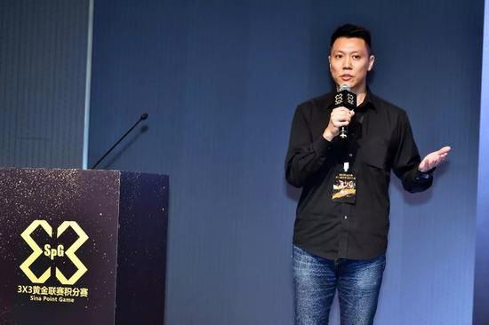 Kenny Wong, Hong Kong M1 Group CEO, sharing the 3X3 Golden League to activate the Hong Kong basketball ecosystem