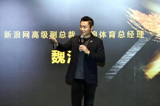 Arthur Wei, the Senior Vice President of Sina and General Manager of Sina Sports, sharing the idea of attracting more people to participate in 3x3 Golden League