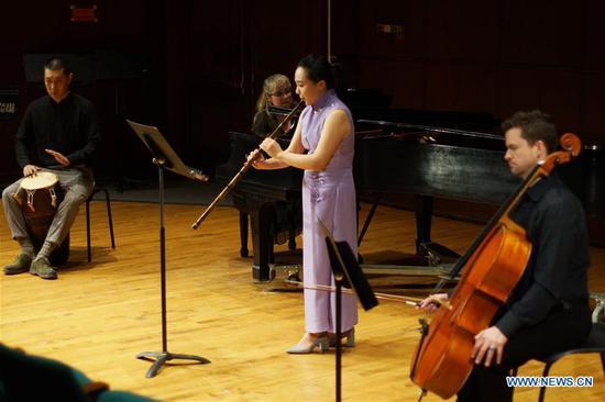 """中国竹笛音乐会""""开门器""""为纽约人"""