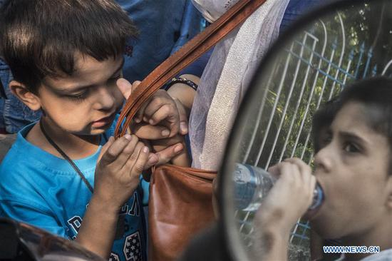 Autistic children gather during an event to mark World Autism Awareness Day in Kolkata, India, April 2, 2019. (Xinhua/Tumpa Mondal)