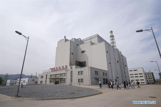 Journalists visit the China Experimental Fast Reactor at China Institute of Atomic Energy (CIAE) of China National Nuclear Corporation in Xinzhen Town of Beijing, capital of China, April 18, 2019. CIAE is the birthplace of China's nuclear technology. (Xinhua/Cai Yang)