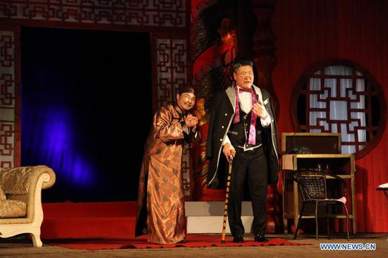 Actors perform during the debut of the Mongolian version of Chinese drama
