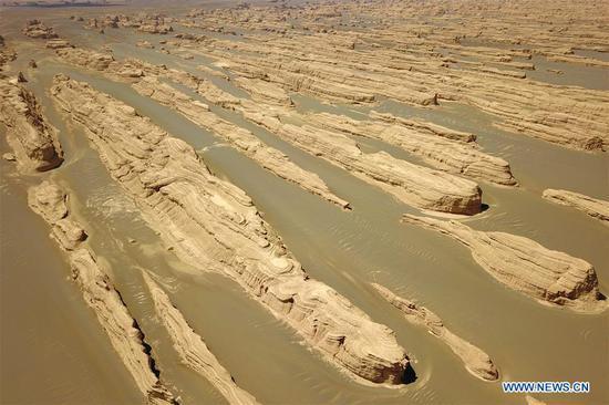 敦煌雅当国家地质公园雨后景色 3