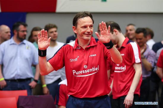 比利时的Jean-Michel Saive结束了乒乓球生涯 2