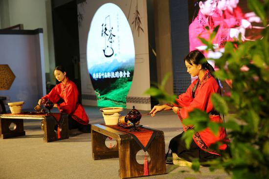 A presentation of tea from Shaanxi Province is held on May 14, 2019 ahead of the third China International Tea Expo in Hangzhou, Zhejiang Province. [Photo: VCG]