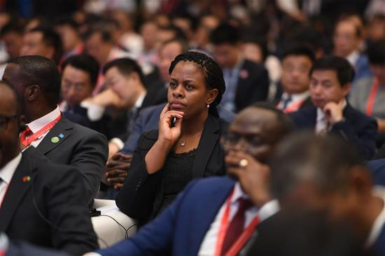 Delegates attend the opening ceremony of the China-Africa Economic and Trade Expo in Changsha, central China's Hunan Province, June 27, 2019. (Xinhua/Xue Yuge)