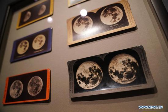 Photo taken on July 9, 2019 shows stereoscopic albumen prints