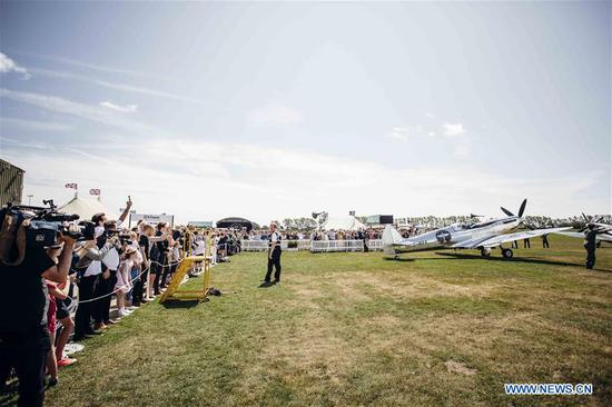 Photo provided by Goodwood shows the official start of the
