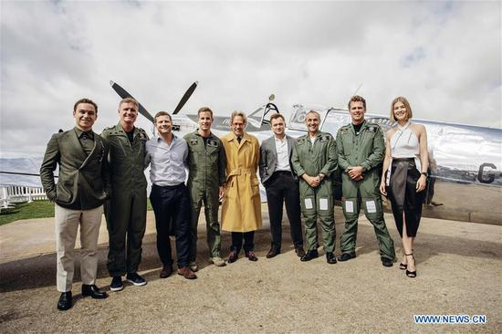 Photo provided by Goodwood shows pilots and guests attending the celebration of the official start of the