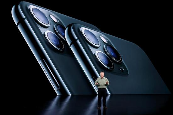Phil Schiller, Senior Vice President of Worldwide Marketing presents the new iPhone 11 Pro at an Apple event at their headquarters in Cupertino, California, US, September 10, 2019.