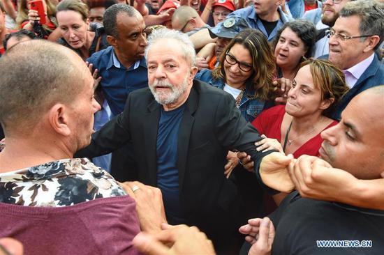 巴西前总统卢拉出狱