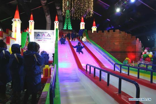 一年一度的中国冰雕展在德州举行 1