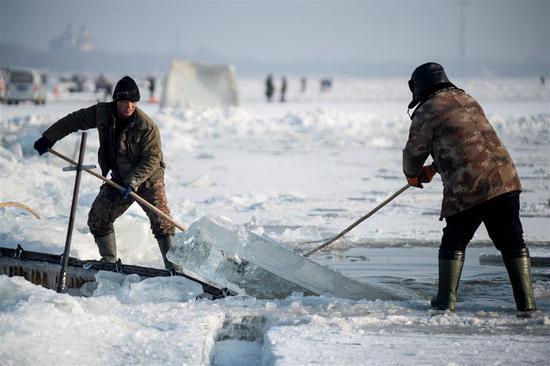 """对庄稼来说太冷了,是时候""""收割""""冰了 1"""