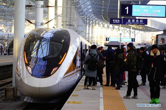 中国高铁连接冬奥会城市