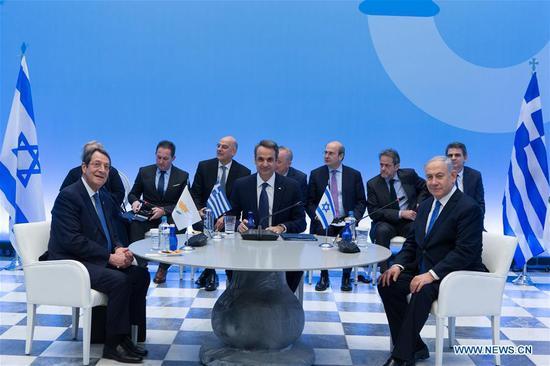 希腊、塞浦路斯、以色列签署东地中海天然气管道协议