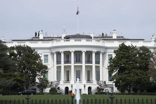 Photo taken on March 27, 2020 shows the White House in Washington D.C., the United States. (Xinhua/Liu Jie)