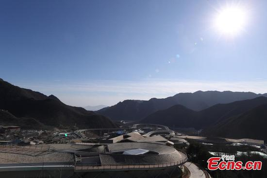 A view of the National Alpine Skiing Center in Yanqing, Beijing, Dec. 29, 2020. (Photo: China News Service/Jiang Qiming)