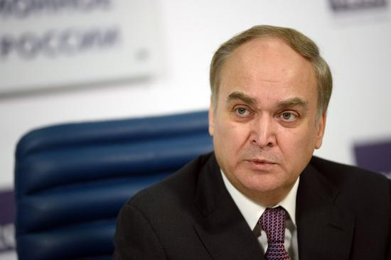 File photo taken on March 5, 2015 shows then Deputy Defense Minister of Russia Anatoly Antonov holding a press conference in Moscow, Russia. (Xinhua/Pavel Bednyakov)