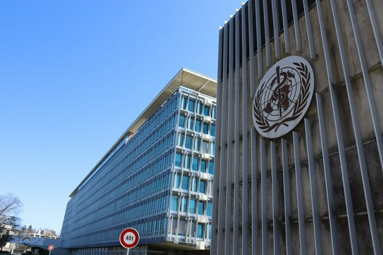 Photo taken on March 30, 2021 shows an exterior view of the headquarters of the World Health Organization (WHO) in Geneva, Switzerland. (Xinhua/Chen Junxia)