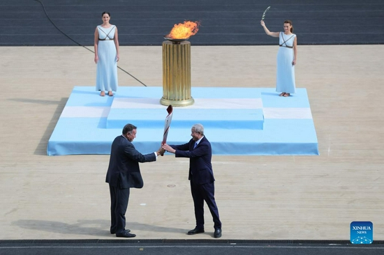 Greece hands over Olympic Flame to Beijing 2022 organizers