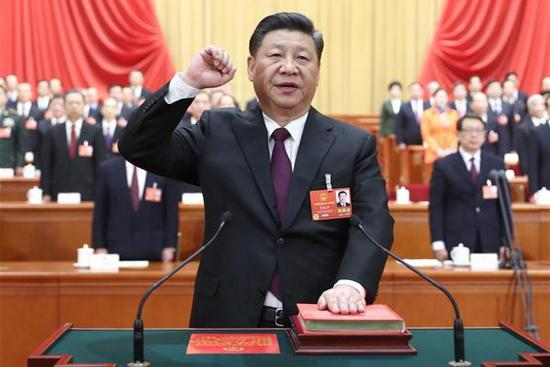 Newly elected Chinese president takes oath of allegiance to Constitution