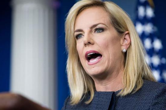 Protesters heckle DHS Nielsen at mexican restaurant