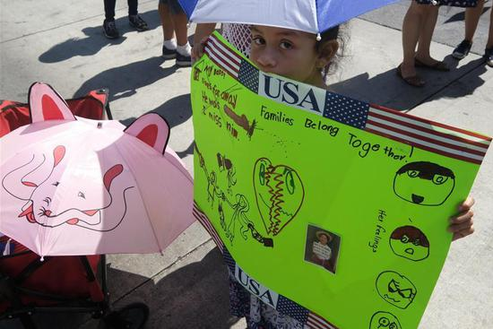 Thousands protest against separating children from parents at U.S.-Mexico border