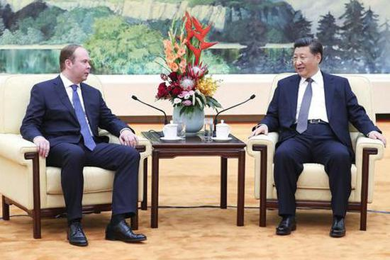 President Xi meets Russian presidential administration chief