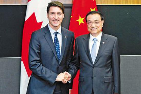 Trudeau says Canada to work with China on eventual free trade deal