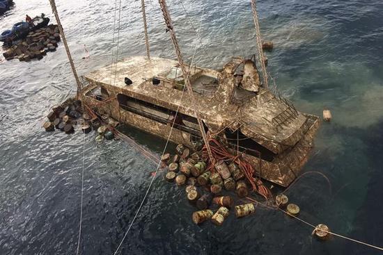Capsized tour boat Phoenix retrieved near Thailand's tourist island Phuket