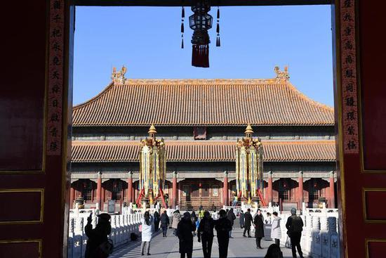 """Celebrating the Spring Festival in the Forbidden City"" exhibition held in Beijing"